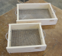 """Small Hand Sifter (12"""" x 14""""), 1/4"""" Screen"""